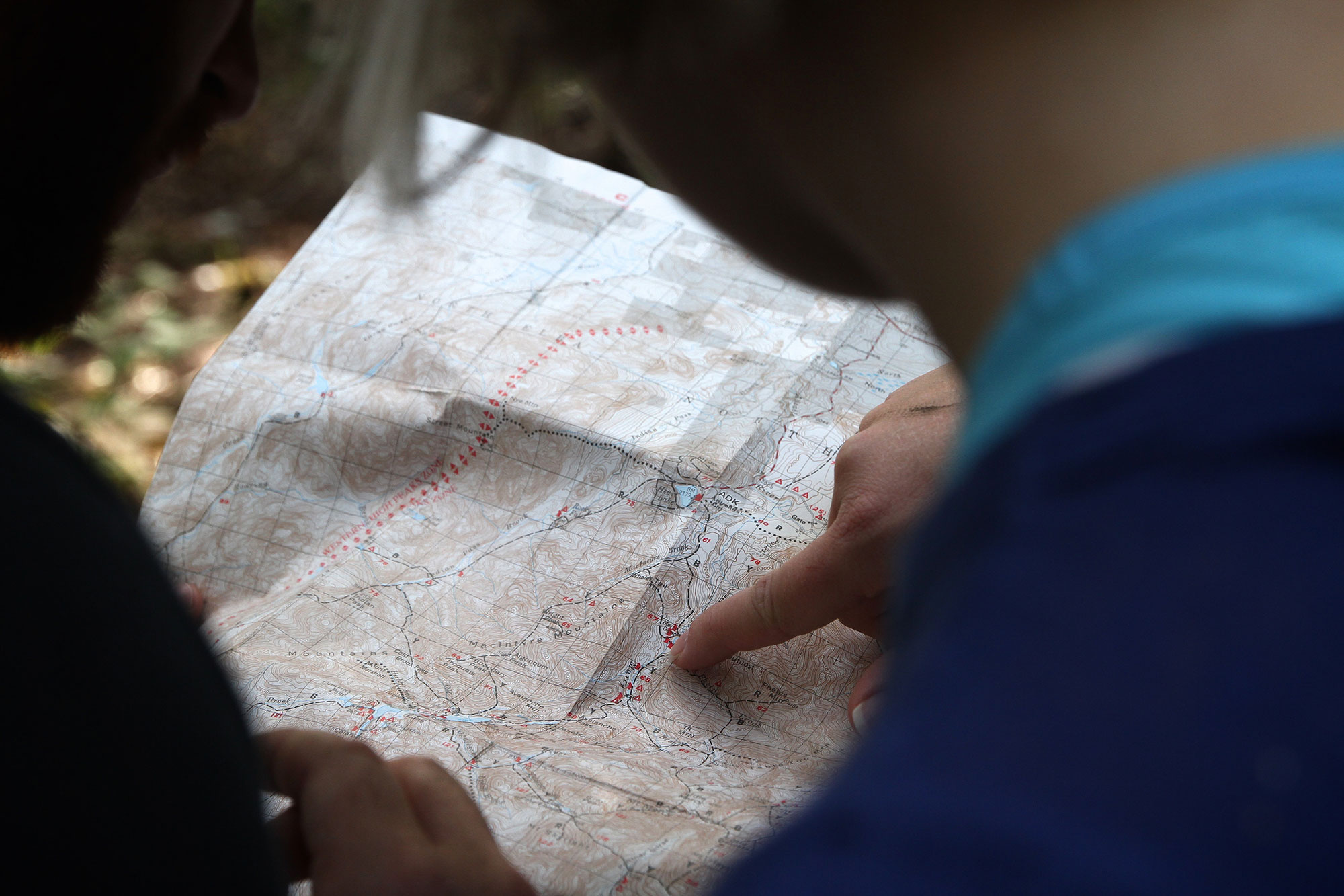 kaart lezen kompas