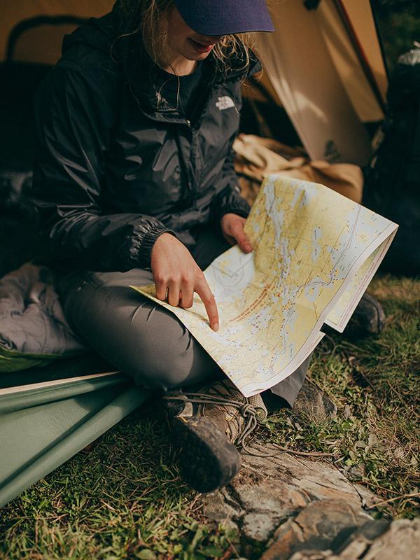 kamperen kaart lezen